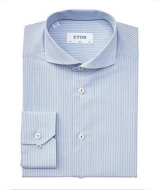 Eton Slim Fit Striped Dress Shirt
