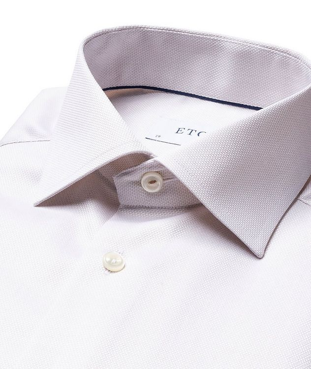 Slim Fit Bird's Eye Dress Shirt picture 2
