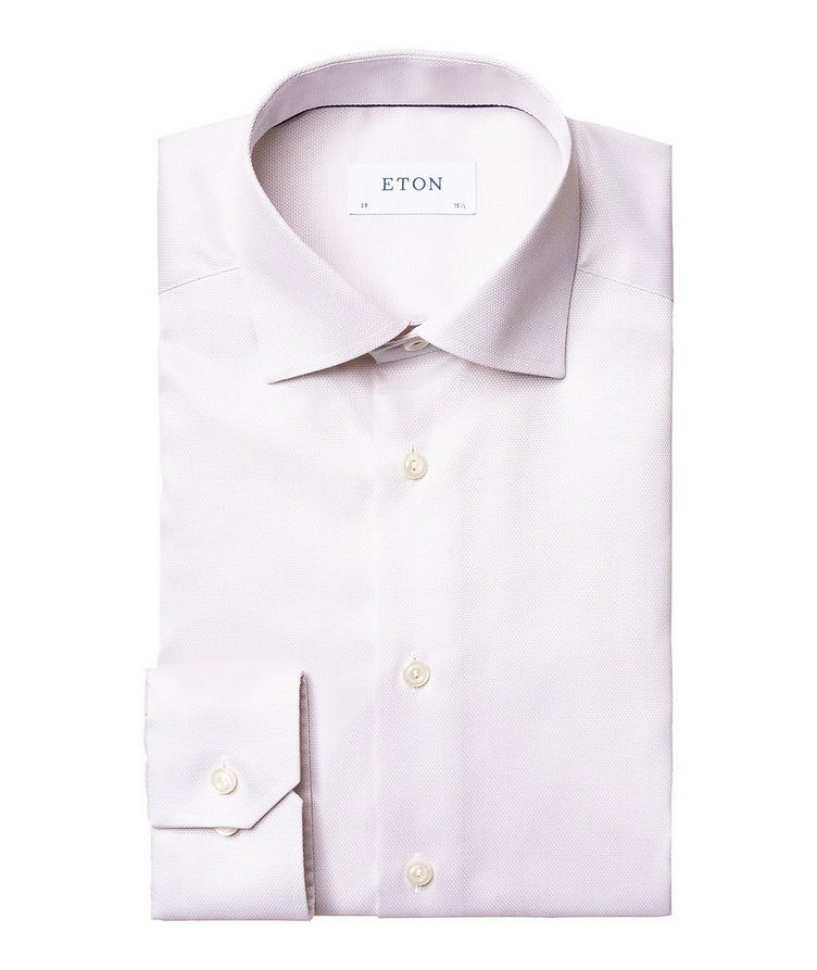 Slim Fit Bird's Eye Dress Shirt image 0