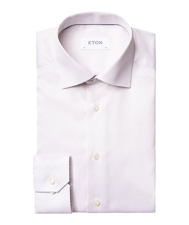 Slim Fit Bird's Eye Dress Shirt picture 1