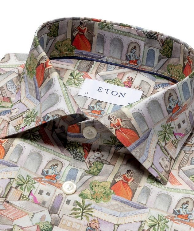 Slim Fit Town Square Motif Dress Shirt picture 2