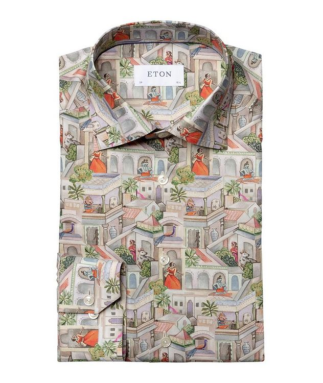 Slim Fit Town Square Motif Dress Shirt picture 1