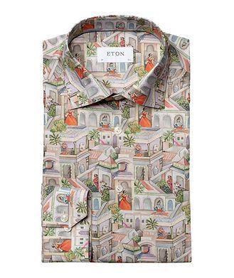 Eton Slim Fit Town Square Motif Dress Shirt