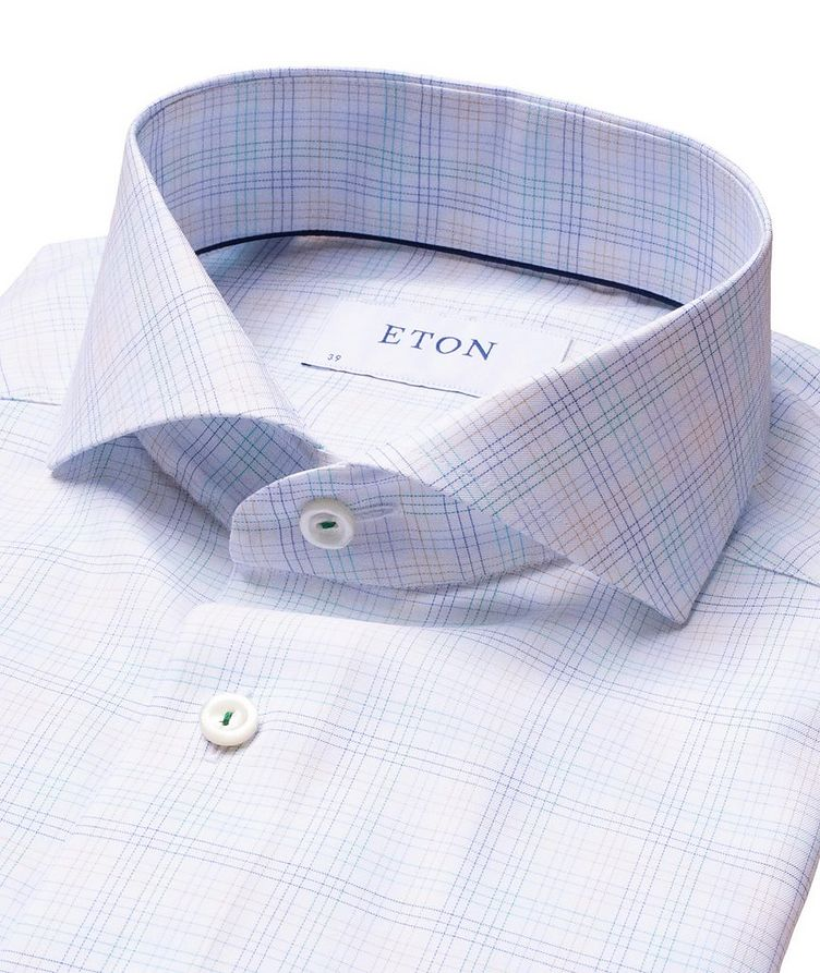 Slim Fit Checked Dress Shirt image 1