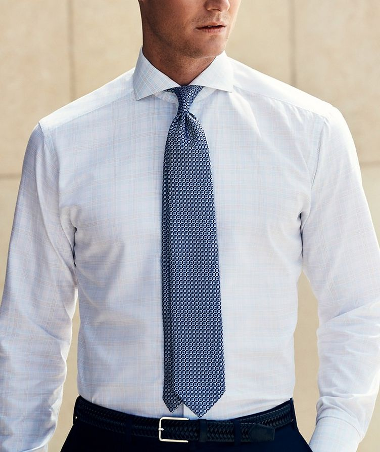 Slim Fit Checked Dress Shirt image 3