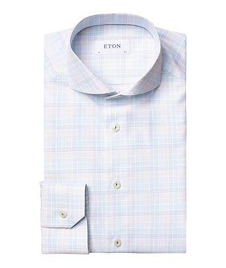 Eton Chemise habillée quadrillée de coupe amincie