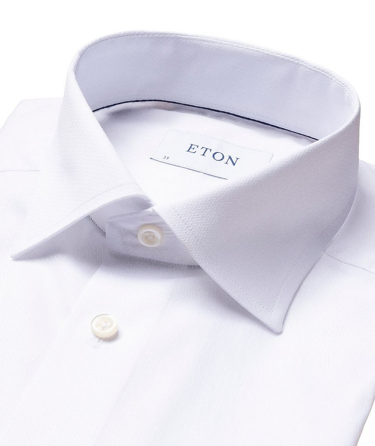 Contemporary Fit Chevron-Textured Dress Shirt image 1