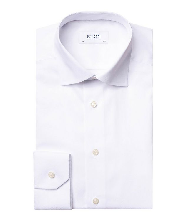Contemporary Fit Chevron-Textured Dress Shirt picture 1