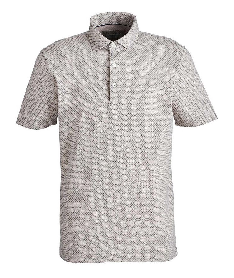 Neat-Printed Cotton Polo image 0