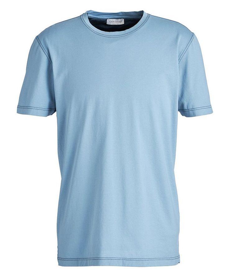 Topstitched Cotton T-Shirt image 0