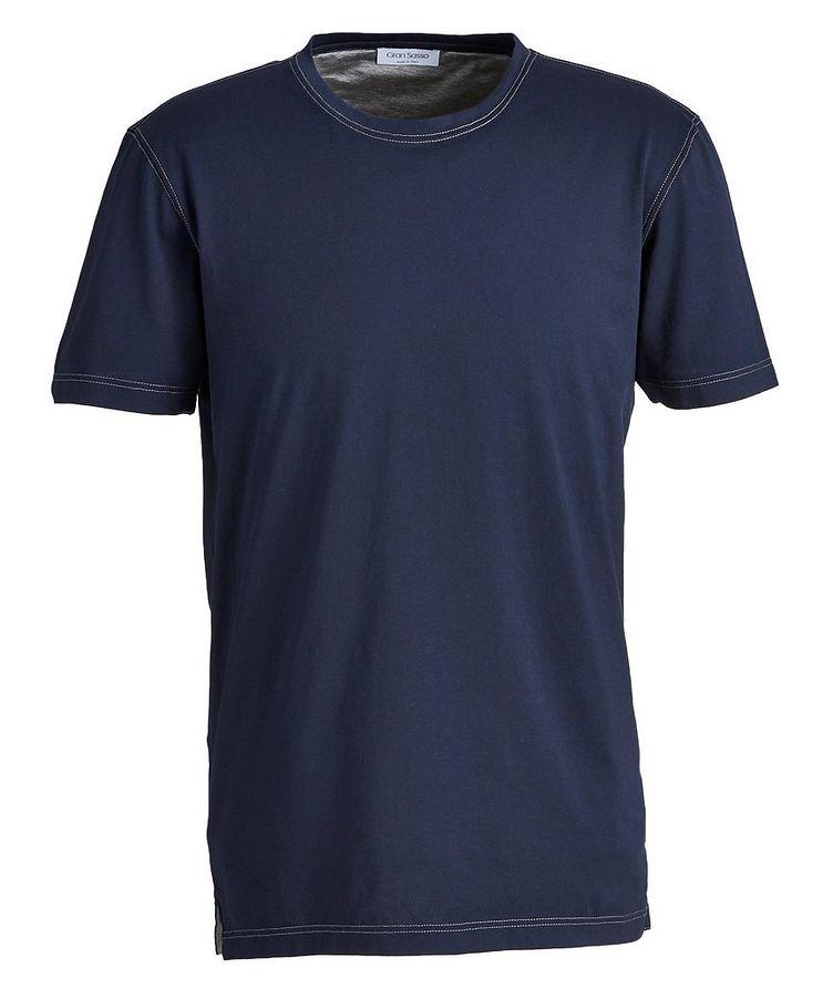 T-shirt surpiqué en coton image 0