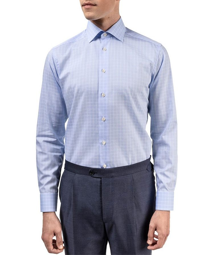 Contemporary Fit Grid-Printed Dress Shirt image 1