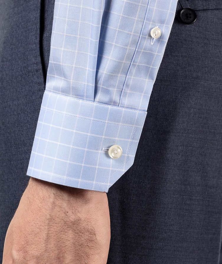 Contemporary Fit Grid-Printed Dress Shirt image 3