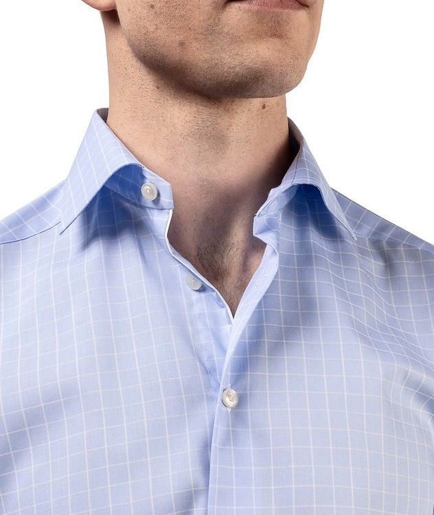 Contemporary Fit Grid-Printed Dress Shirt picture 5