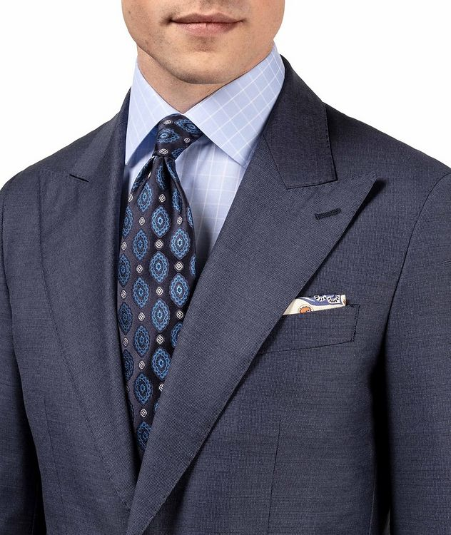 Contemporary Fit Grid-Printed Dress Shirt picture 6
