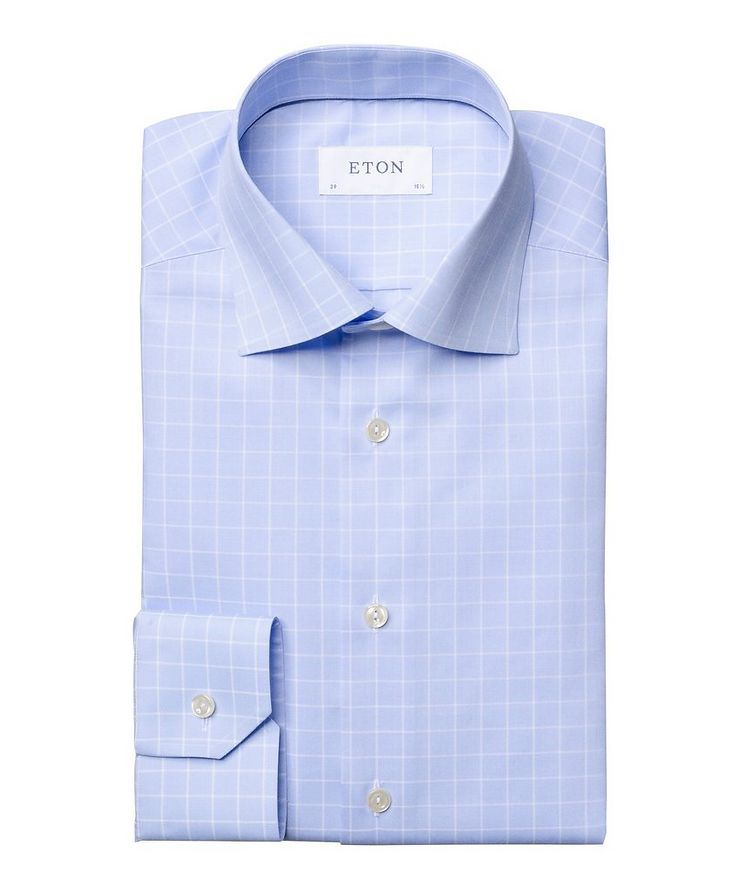 Contemporary Fit Grid-Printed Dress Shirt image 0