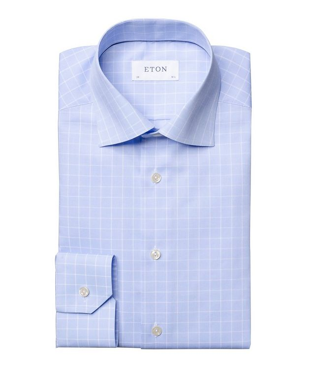 Contemporary Fit Grid-Printed Dress Shirt picture 1