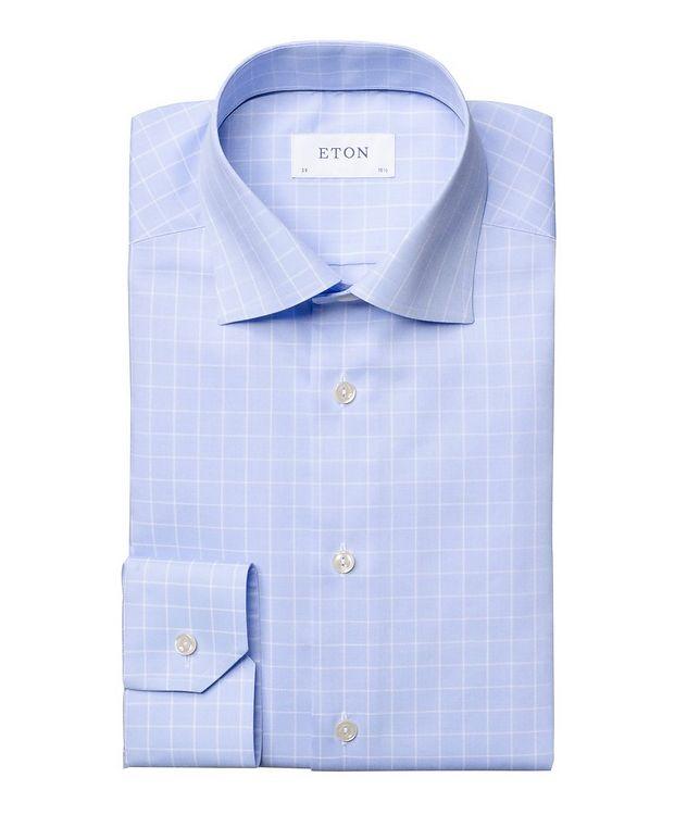 Chemise habillée quadrillée de coupe contemporaine picture 1
