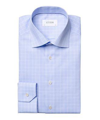 Eton Contemporary Fit Grid-Printed Dress Shirt
