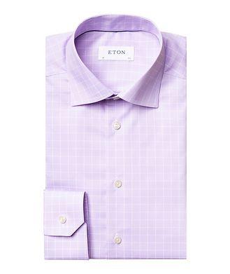 Eton Contemporary Fit Windowpane Dress Shirt