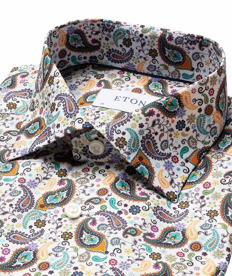 Contemporary Fit Paisley Dress Shirt image 1