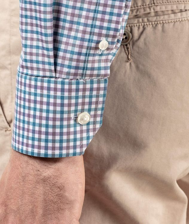 Slim Fit Gingham Dress Shirt picture 4