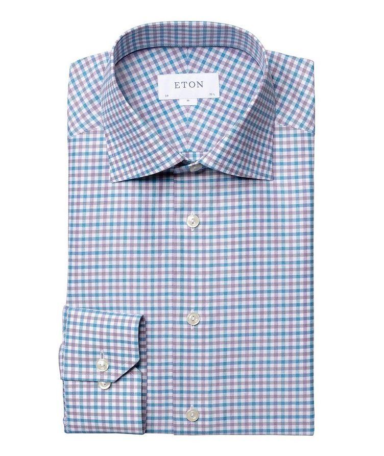 Slim Fit Gingham Dress Shirt image 0