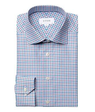 Eton Slim Fit Gingham Dress Shirt
