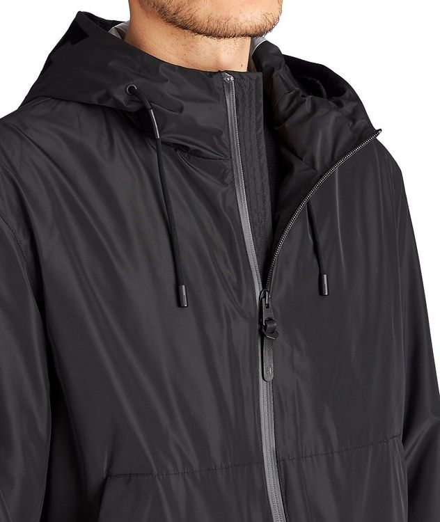 Water-Repellent Hooded Bomber Jacket picture 3