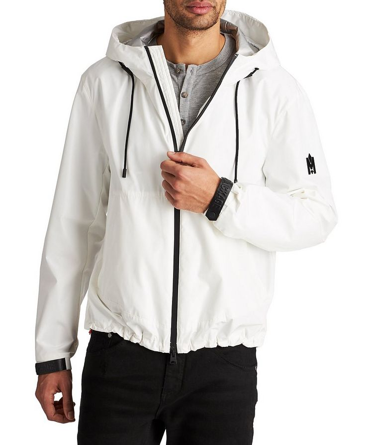 Water-Repellent Hooded Bomber Jacket image 0