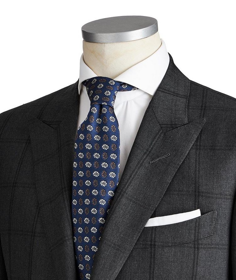 O'Connor Windowpane-Checked Wool Suit image 1