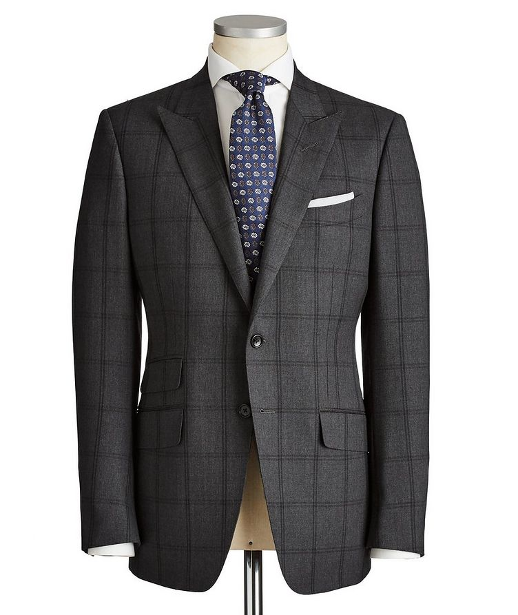 O'Connor Windowpane-Checked Wool Suit image 0