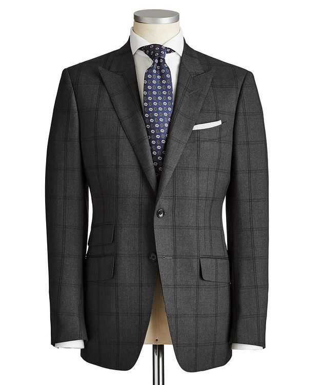 O'Connor Windowpane-Checked Wool Suit picture 1