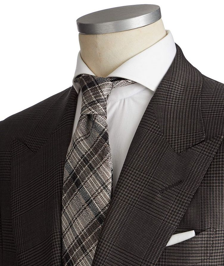 Shelton Glen-Checked Wool-Silk Suit image 1