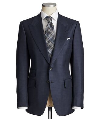 TOM FORD Shelton Gingham Wool-Silk Suit