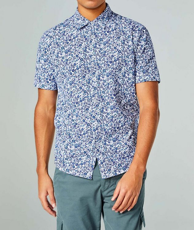 Short-Sleeve Botanical-Printed Shirt picture 1