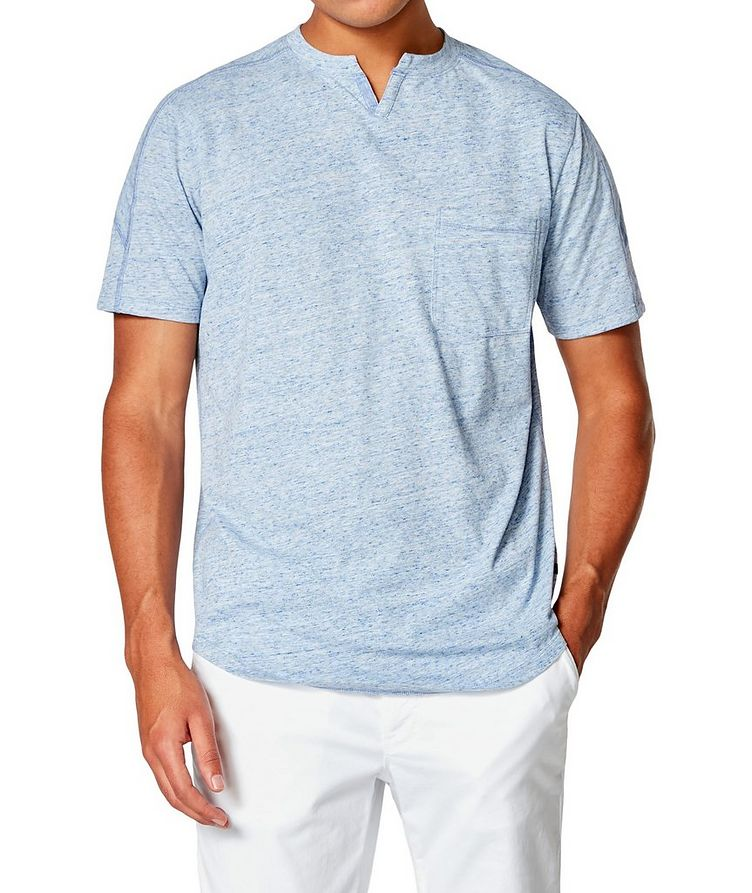 Notched Cotton-Jersey T-Shirt image 0