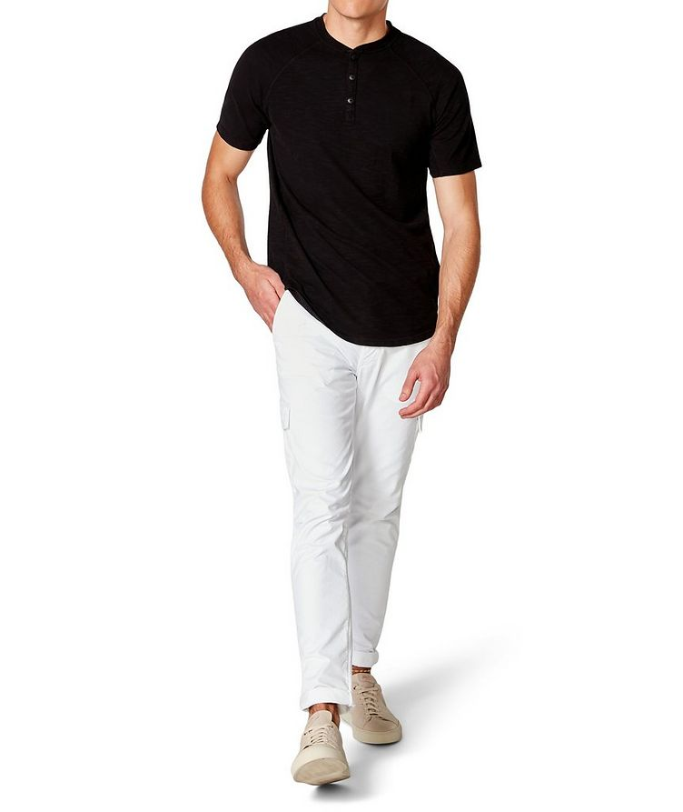 Short-Sleeve Slub Jersey Henley image 3