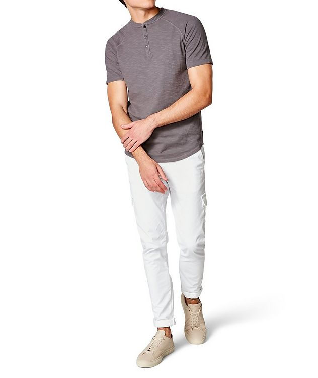 Short-Sleeve Slub Jersey Henley picture 4
