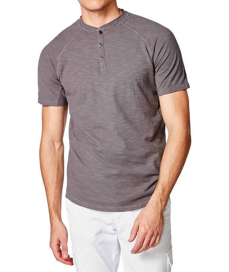 Short-Sleeve Slub Jersey Henley image 0