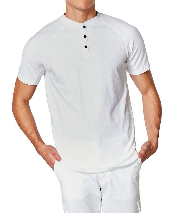 Short-Sleeve Slub Jersey Henley picture 1
