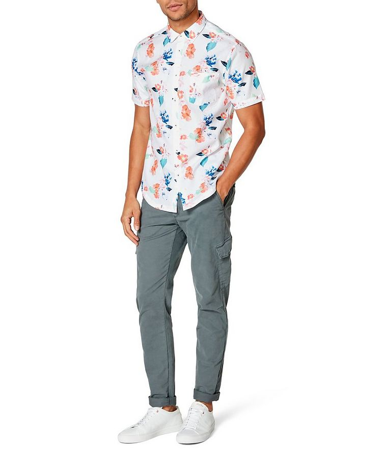 Short-Sleeve Botanical-Printed Shirt image 3