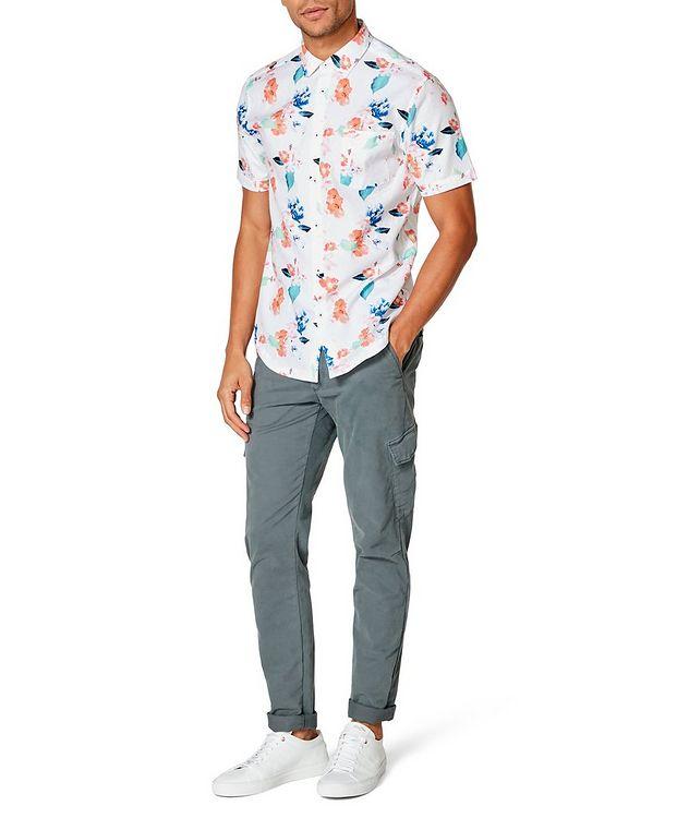 Short-Sleeve Botanical-Printed Shirt picture 4