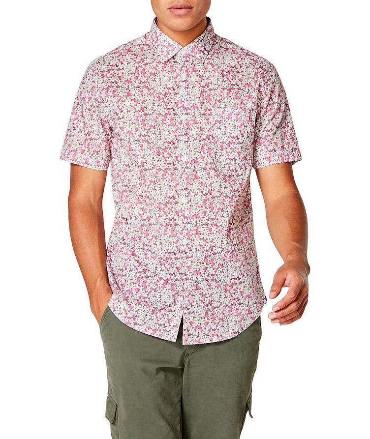 Short-Sleeve Botanical-Printed Shirt image 0