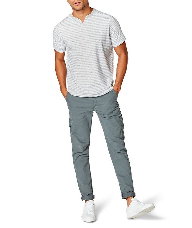Notched Cotton-Jersey T-Shirt picture 4