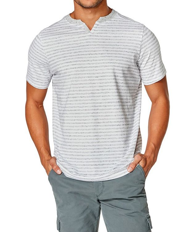 Notched Cotton-Jersey T-Shirt picture 1