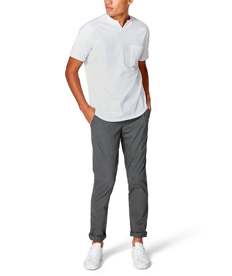 Notched Cotton-Jersey T-Shirt image 3