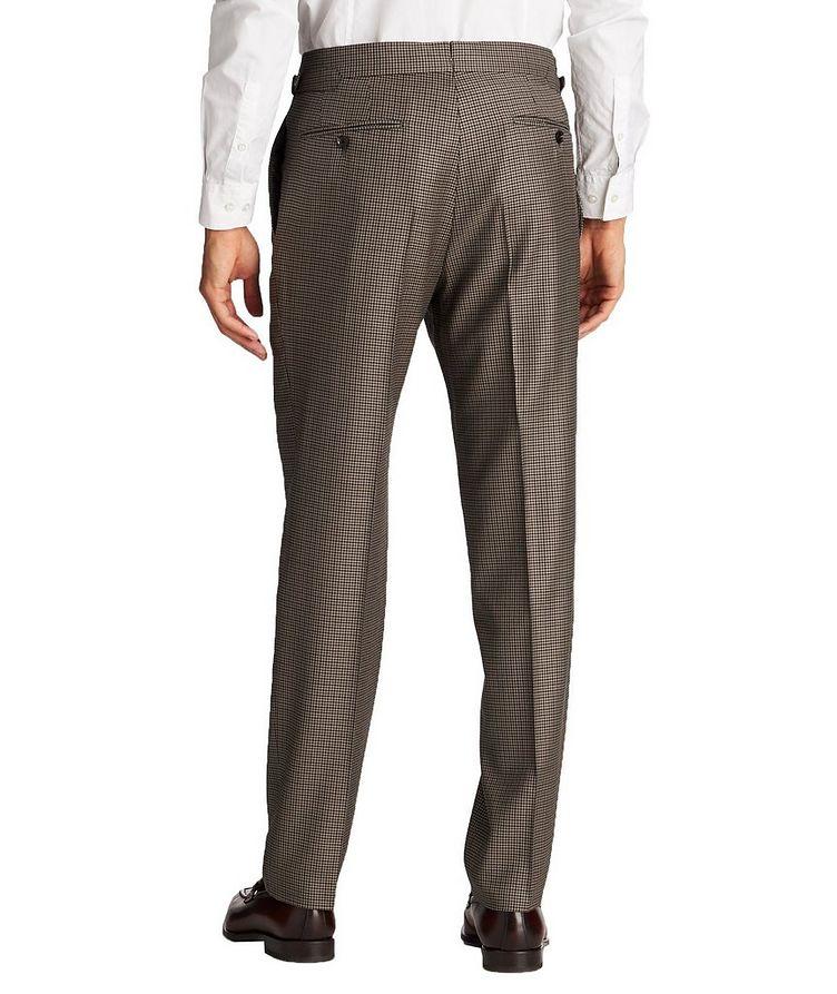 Slim Fit Houndstooth Dress Pants image 1