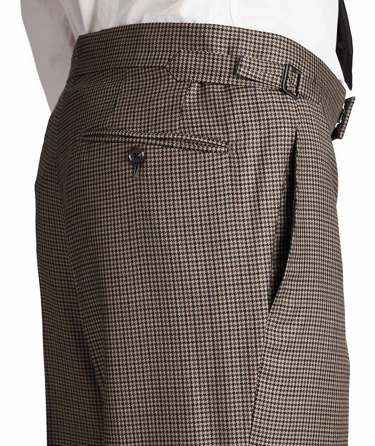 Slim Fit Houndstooth Dress Pants image 2