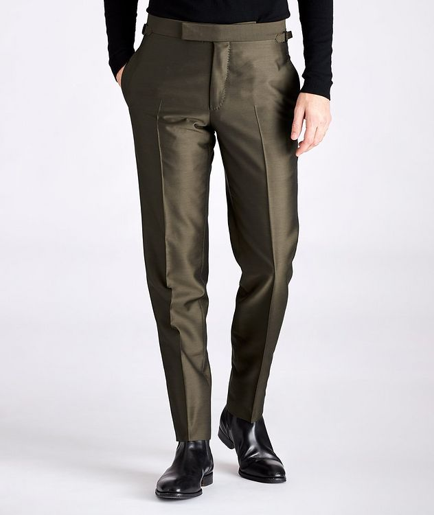 Slim-Fit Wool, Mohair, and Silk Dress Pants picture 1